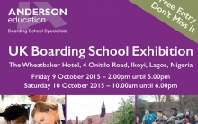 Uk Boarding School Exhibition 9th -10th of October