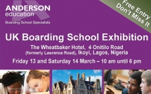 Invitation to the UK Boarding Schools Exhibition